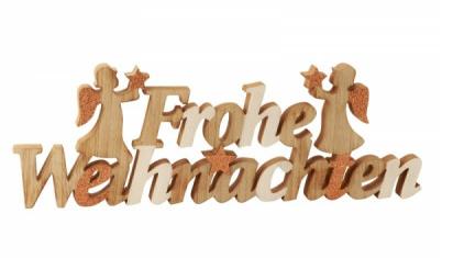 Schriftzug Frohe Weihnachten.Schriftzug Frohe Weihnachten Höhe 17cm Breite 50cm Bärelädl